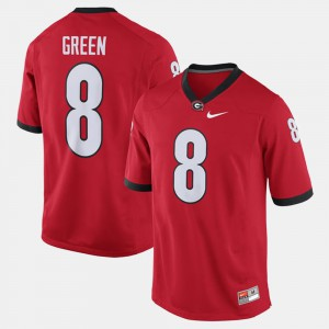 Men's Alumni Football Game GA Bulldogs #8 A.J. Green college Jersey - Red