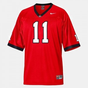 Youth(Kids) Football #11 Georgia Bulldogs Aaron Murray college Jersey - Red