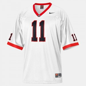 Youth(Kids) #11 Football GA Bulldogs Aaron Murray college Jersey - White