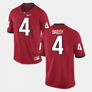 Men's #4 University of Georgia Alumni Football Game Champ Bailey college Jersey - Red