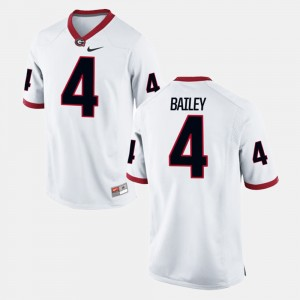 Men #4 GA Bulldogs Alumni Football Game Champ Bailey college Jersey - White