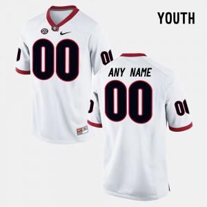 Kids UGA Limited Football #00 college Customized Jerseys - White