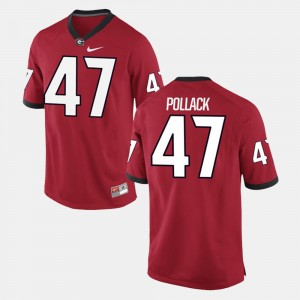 Men's Alumni Football Game #47 UGA David Pollack college Jersey - Red