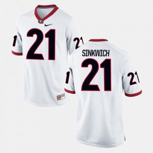 Men's University of Georgia #21 Alumni Football Game Frank Sinkwich college Jersey - White