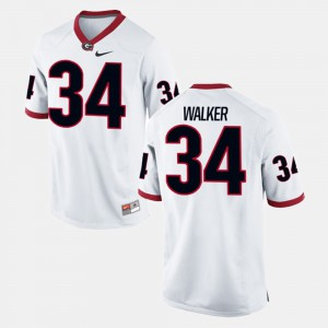 Men's #34 Alumni Football Game GA Bulldogs Herschel Walker college Jersey - White