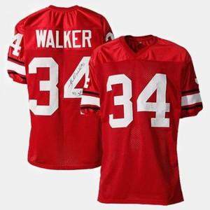 Men Football #34 University of Georgia Herschel Walker college Jersey - Red