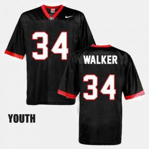 Youth GA Bulldogs #34 Football Herschel Walker college Jersey - Black