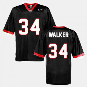 Mens Georgia Bulldogs Football #34 Herschel Walker college Jersey - Black