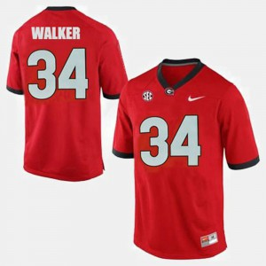 Men #34 Georgia Football Herschel Walker college Jersey - Red