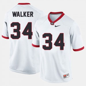 Men Football #34 Georgia Bulldogs Herschel Walker college Jersey - White