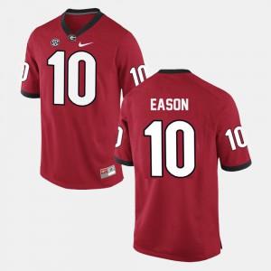 Men's Football Georgia #10 Jacob Eason college Jersey - Red