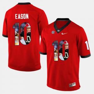 Men UGA #10 Player Pictorial Jacob Eason college Jersey - Red