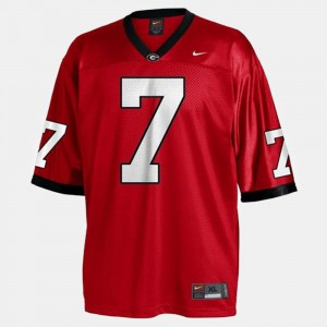 Men's University of Georgia Football #7 Matthew Stafford college Jersey - Red