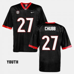 Kids UGA #27 Football Nick Chubb college Jersey - Black
