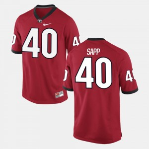 Men's #40 UGA Bulldogs Alumni Football Game Theron Sapp college Jersey - Red