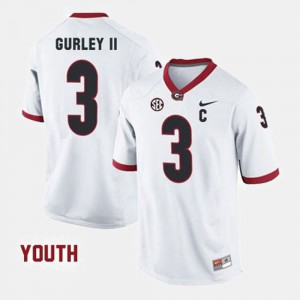 Youth(Kids) Georgia #3 Football Todd Gurley II college Jersey - White