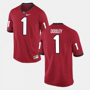 Mens #1 Vince Dooley college Jersey - Red Alumni Football Game University of Georgia