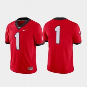 Men Football #1 Game Georgia college Jersey - Red