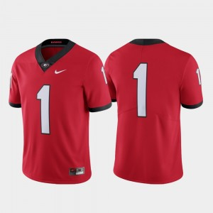 Men's Football Limited Georgia Bulldogs #1 college Jersey - Red