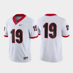 Mens #19 UGA Game college Jersey - White