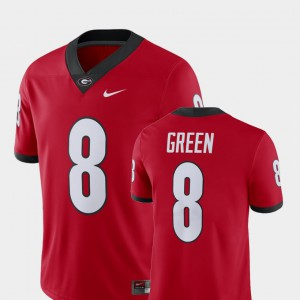 Men's Alumni Football Game Georgia Bulldogs Player #8 A.J. Green college Jersey - Red
