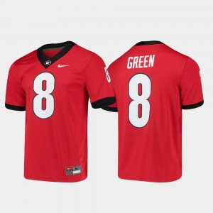 Men #8 Game Alumni Player Football Georgia A.J. Green college Jersey - Red
