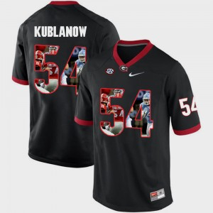 Men's Pictorial Fashion GA Bulldogs #54 Brandon Kublanow college Jersey - Black