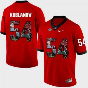 Men #54 Pictorial Fashion Georgia Brandon Kublanow college Jersey - Red
