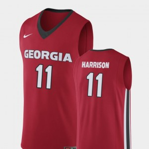 Men's UGA Bulldogs Replica Basketball #11 Christian Harrison college Jersey - Red
