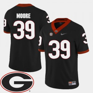Men 2018 SEC Patch Football Georgia #39 Corey Moore college Jersey - Black