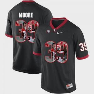 Mens Georgia Bulldogs #39 Pictorial Fashion Corey Moore college Jersey - Black
