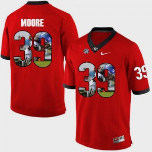 Men UGA #39 Pictorial Fashion Corey Moore college Jersey - Red