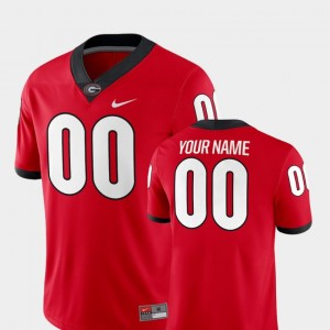 Men's Football #00 2018 Game UGA college Customized Jersey - Red