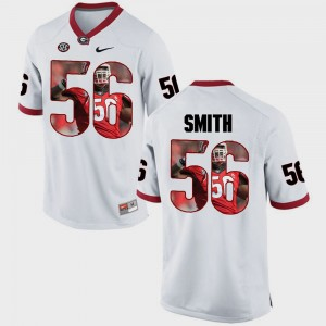 Men's University of Georgia Pictorial Fashion #56 Garrison Smith college Jersey - White