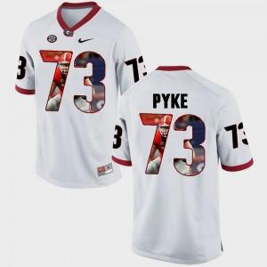 Men Pictorial Fashion UGA Bulldogs #73 Greg Pyke college Jersey - White