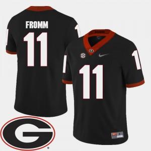 Men's GA Bulldogs #11 Football 2018 SEC Patch Jake Fromm college Jersey - Black