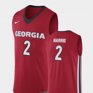 Men Replica Georgia Bulldogs Basketball #2 Jordan Harris college Jersey - Red