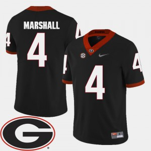 Men UGA Bulldogs 2018 SEC Patch #4 Football Keith Marshall college Jersey - Black