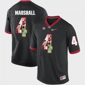 Men's Pictorial Fashion UGA #4 Keith Marshall college Jersey - Black