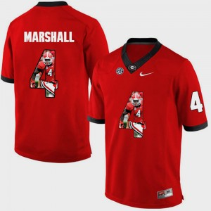Men Pictorial Fashion #4 Georgia Bulldogs Keith Marshall college Jersey - Red