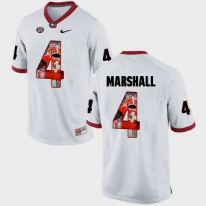 Men's Georgia Bulldogs Pictorial Fashion #4 Keith Marshall college Jersey - White