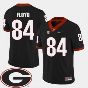 Men's #84 Football GA Bulldogs 2018 SEC Patch Leonard Floyd college Jersey - Black