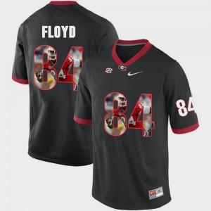 Men UGA Bulldogs #84 Pictorial Fashion Leonard Floyd college Jersey - Black