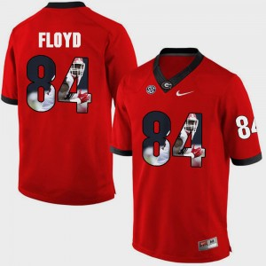 Men Pictorial Fashion UGA #84 Leonard Floyd college Jersey - Red
