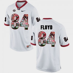 Mens #84 UGA Bulldogs Pictorial Fashion Leonard Floyd college Jersey - White