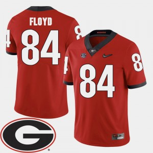 Mens University of Georgia #84 Football 2018 SEC Patch Leonard Floyd college Jersey - Red