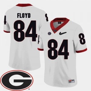 Mens Football 2018 SEC Patch #84 University of Georgia Leonard Floyd college Jersey - White