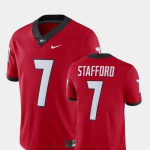 Men Georgia #7 Player Alumni Football Game Matthew Stafford college Jersey - Red