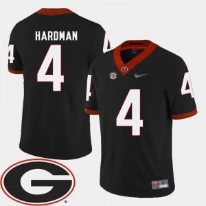 Men's 2018 SEC Patch #4 Football Georgia Mecole Hardman college Jersey - Black