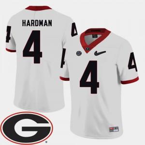 Mens GA Bulldogs #4 2018 SEC Patch Football Mecole Hardman college Jersey - White